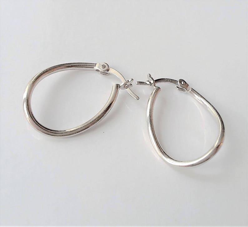 98750ac41 Sterling Silver Hoop Earrings Small Silver Hoops Everyday | Etsy