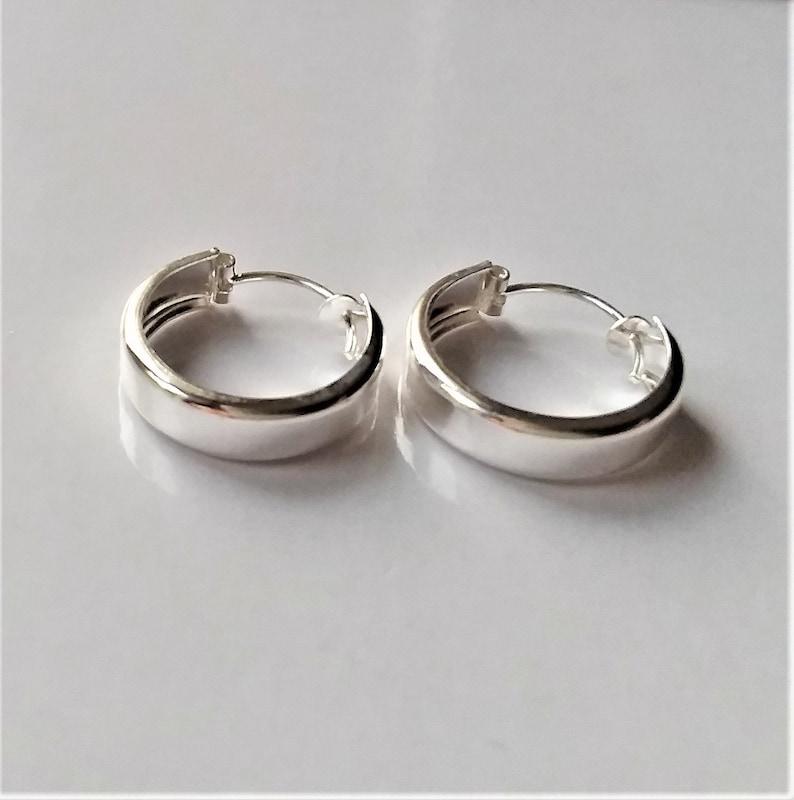 Gift For Him. Small  Sterling Silver Hoop Earrings Minimalist Style Unisex Earrings Minimalist Earrings Boho Style Hoop Earrings