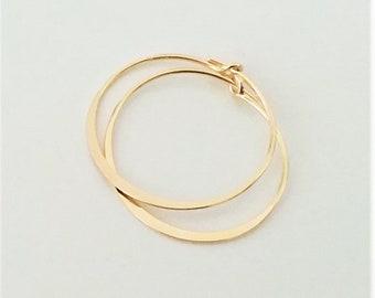 Hoop Earrings, Gold Dainty Hoop Earrings, Small Hoops, Lightweight Minimalist Earrings.