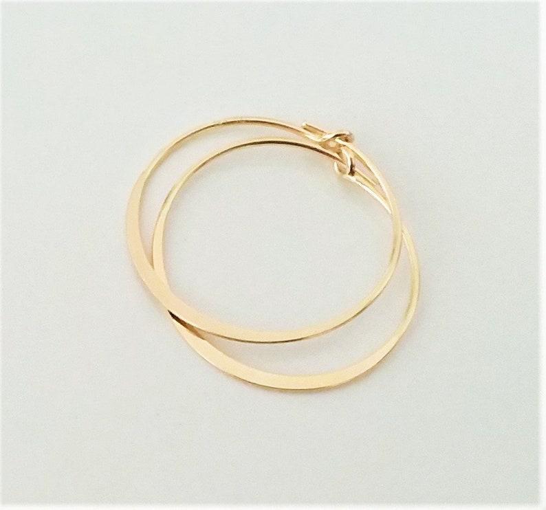 Small Gold  Hoop Earrings Lightweight Thin Hoop Earrings 14K image 0