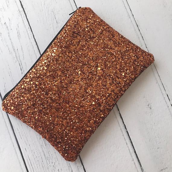 Kupfer-orange Abendtasche Glitzer-Clutch-Tasche Kupfer | Etsy