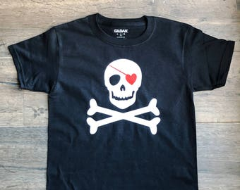 Valentines Pirate Shirt, boys, toddler