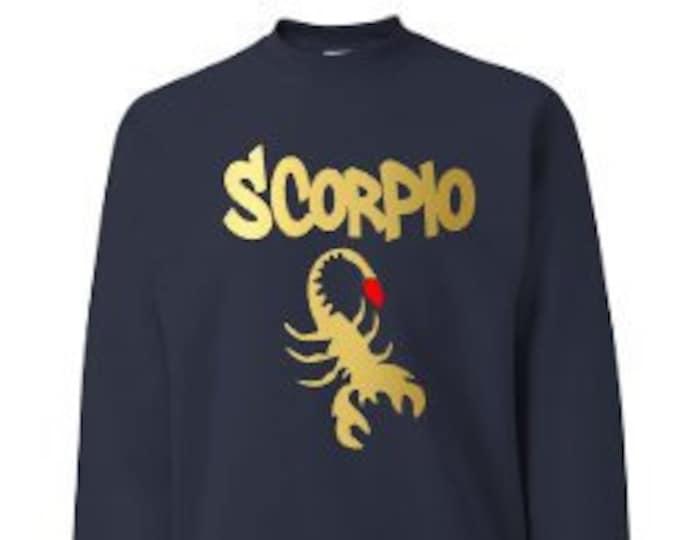 Scorpio Zodiac Men's Birthday Sweatshirt Personalized-Great Gift for Him