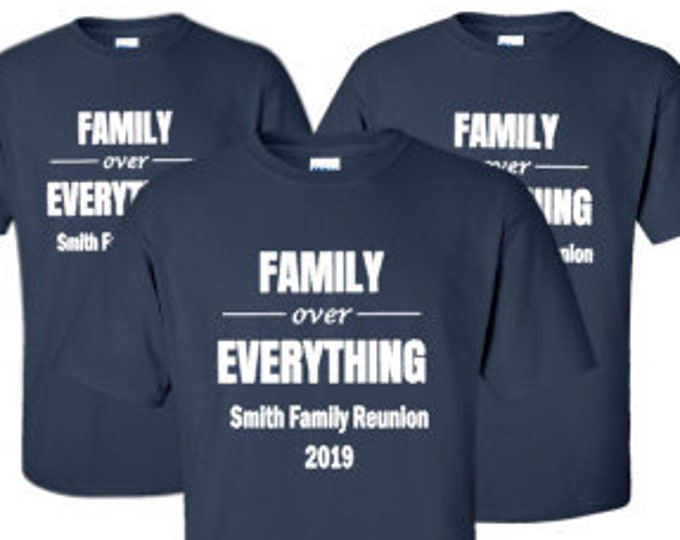 Family Over Everything Matching Shirts-Family Vacation Shirts-Family Reunion Shirts-Sibling Shirts-Personalized Matching Shirts