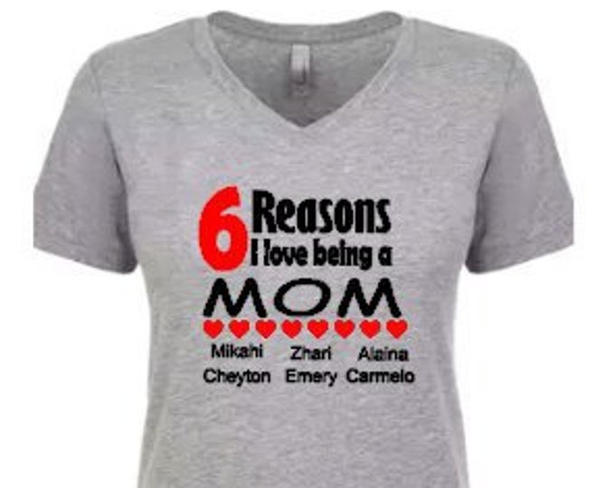 Mom Personalized Shirt-Custom Shirt for Mom-Mother's Day Gift-Gift Ideas for Mom-New Mom Gift-Stepmom Gift