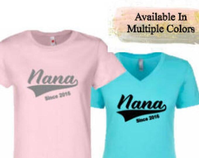 Nana Baseball Tail T-Shirt with Optional Free Personalization