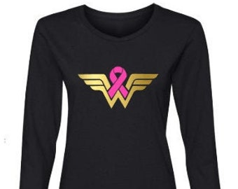 Breast Cancer Awareness-Breast Cancer Support-Cancer Sucks-Pink Ribbon-Wear Pink in October-Breast Cancer Survivor Long Sleeve T-Shirt