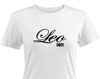 Leo Birthday Shirt, Birthday Outfit, Personalized Birthday T-Shirt, Zodiac Gift Idea, Leo Custom Shirt, July Birthday Gift, August Birthday