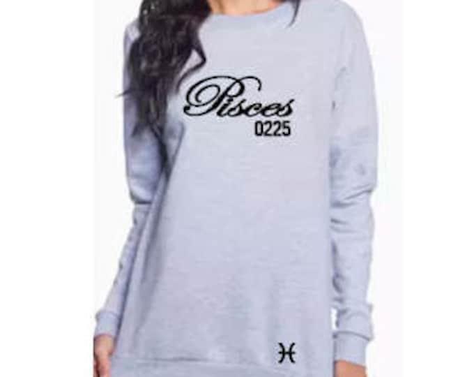 Pisces Women's Zodiac Horoscope Personalized Sweatshirt