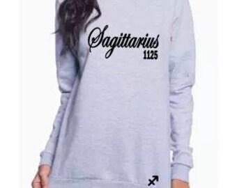 Sagittarius Women's Sweatshirt-Sagittarius Personalized Shirt-Zodiac Inspired Gift-November Gift Idea-December Gift Idea-Customized Gift