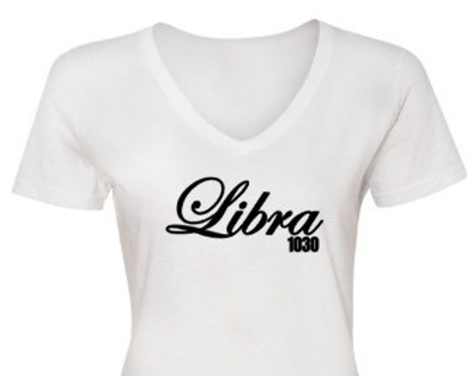 Libra Women's Birthday Shirt-September Birthday-Octobe Birthday Gift Ideas-Zodiac Gift Ideas-Horoscope Gifts-Personalized Birthday Shirt