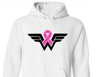 Breast Cancer Awareness-Breast Cancer Support-Cancer Sucks-Pink Ribbon-Wear Pink in October-Breast Cancer Survivor Hoodie