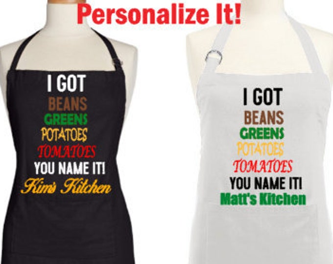 Personalized Apron-I Got it!-Customized Apron-Gift for Cook-Housewarming Gift-Gift for Chef-New Cook Gift-Personalized Apron-Novelty Apron