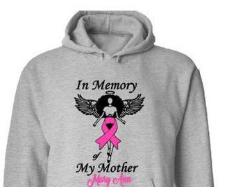 Breast Cancer Awareness-Breast Cancer Support-Cancer Sucks-Pink Ribbon-Memorial Shirt-Wear Pink in October-In Memory of Hoodie