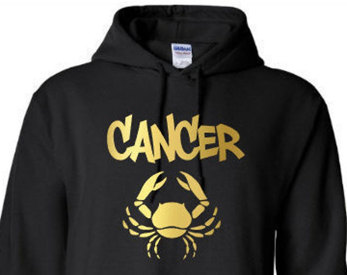 Cancer Zodiac Men's Birthday Hoodie Personalized-Great Gift for Him