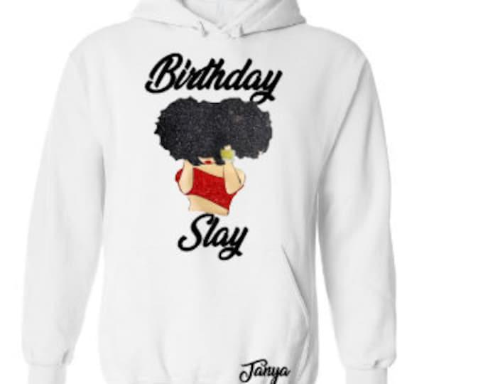 Women's Birthday Hoodie, Birthday Outfit,  21st Birthday Hoodie, Personalized Hoodie, Monogrammed Hoodie, Zodiac Hoodie