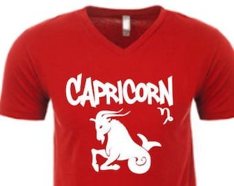 Capricorn Zodiac Shirt-Men's Capricorn Birthday Shirt-Mens Zodiac Shirt-Mens Birthday Gift-December Birthday Gift-January Birthday Gift Idea
