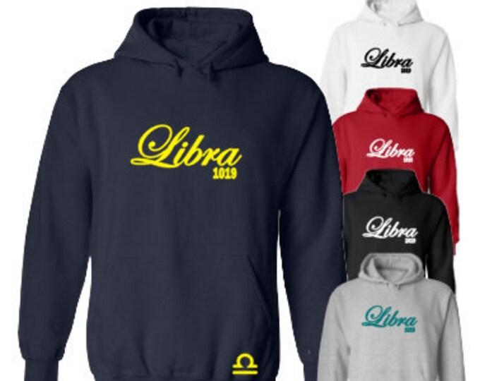 Libra Women's Birthday Hoodie-Libra Birthday Gift Idea-September Birthday Gift-October Birthday Gift-Zodiac Gift Ideas-Libra Birthday Shirt