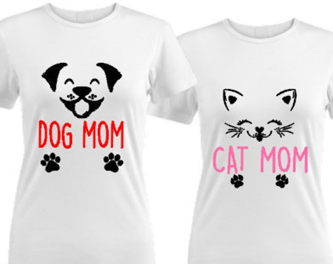 Dog Mom Shirt-Cat Mom Shirt-Dog Mom-Fur Mom-Pet Mother's Day Gift-Personalized-New Pet Gift Idea