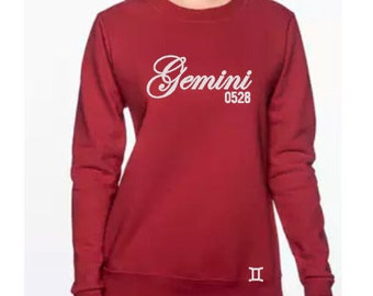 Gemini Women's Personalized Birthday Sweatshirt