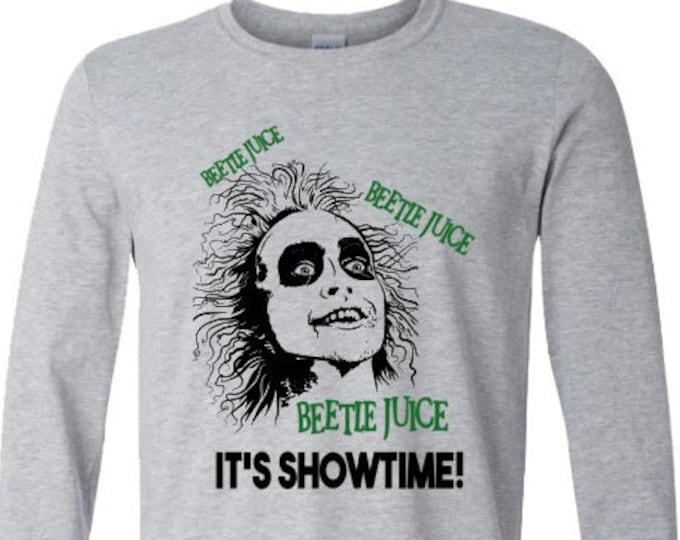 Beetlejuice Long Sleeve T-Shirt-Scary Halloween Shirt-Halloween Hoodie-Funny Shirt-Gift Idea for Men-Halloween Party-Unisex Halloween Shirt