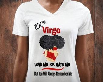 Virgo Women's Personalized Birthday Shirt-August Birthday-September Birthday-Virgo Zodiac Gift Ideas-Customized Birthaday Shirt