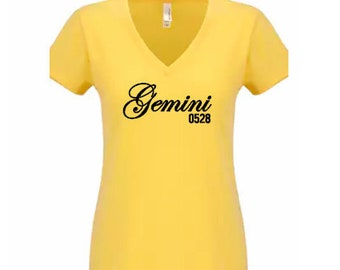 Gemini Women's Birthday Personalized T-Shirt/Tee