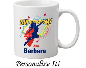 Super Mom Personalized Mug-Customized Mug-Gift Idea for Mom-Mother's Day Gift-New Mom Gift-Monogrammed Gift Idea