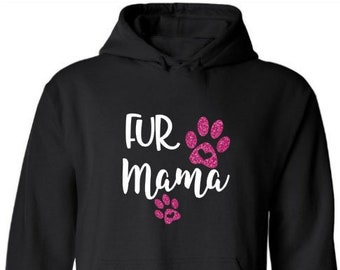 Fur Momma Monogrammed Hoodie-Dog Mom-Fur Mom-Cat Mom-Mother's Day Gift-Personalized Fur Mom Hoodie-Customized Mom Hoodie