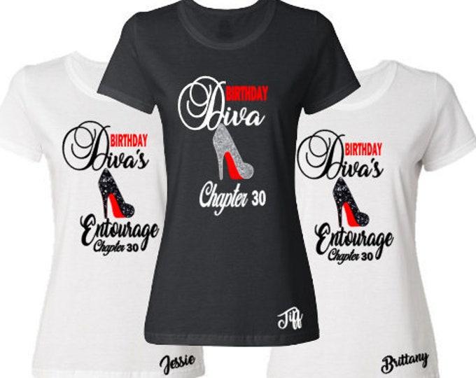 Birthday Diva Birthday Entourage Shirts-Birthday Chapter Shirt-Group Birthday Celebration-Birthday Getaway Shirts-Matching Birthday Shirts