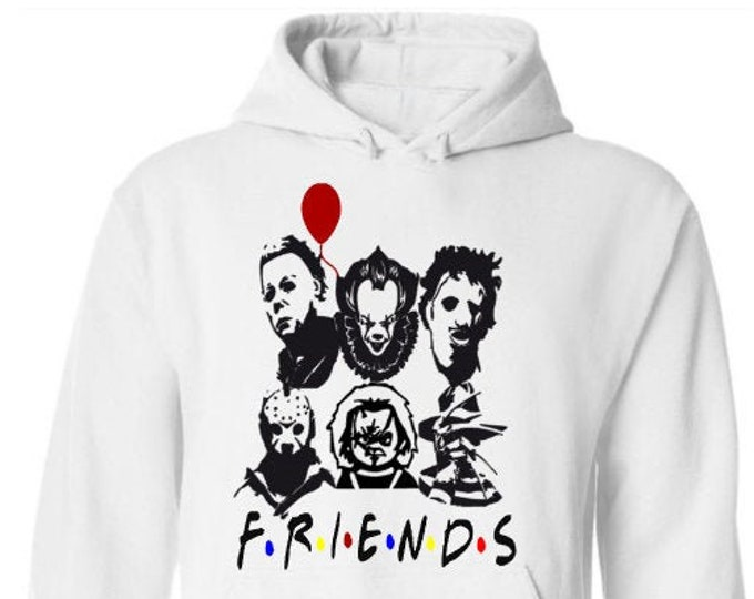 Scary Movie Friends Hoodie-Scary Halloween Shirt-Halloween Hoodie-Funny Shirt-Gift Idea for Men-Halloween Party-Unisex Halloween Shirt