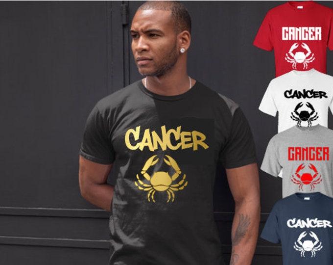 Cancer Zodiac Men's Birthday T-Shirt