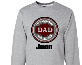 Dad Personalized Hoodie/Sweatshirt-The Man, The Myth, The Legend-Great Father's Day Gift