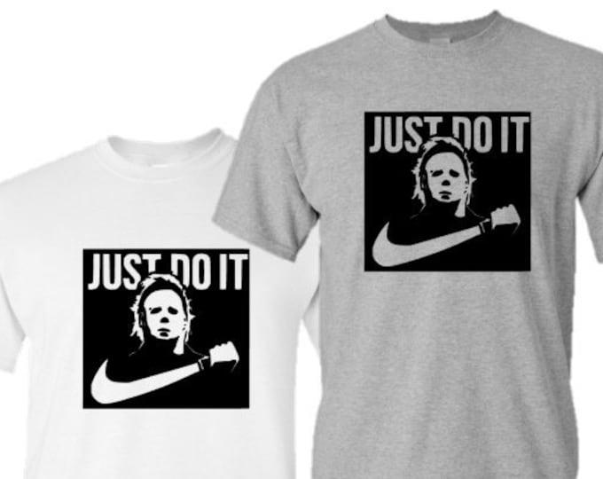 Halloween Shirt-Jason Just Do It T-Shirt-Mens Halloween Tee-Scary Shirt-Gift Idea for Men-Halloween Party-Unisex Halloween Shirt