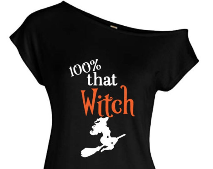 That Witch Off The Shoulder Shirt-Funny Halloween Shirt-Halloween Hoodie-Halloween Gift Ideas-Halloween Party-Witch Saying-Wicked Witch