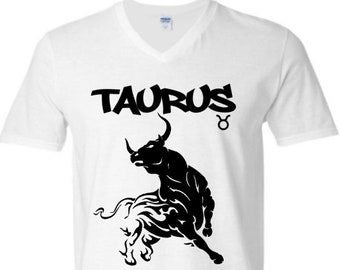 Taurus Zodiac Men's Birthday T-Shirt-Personalized-March Birthday Shirt-April Birthday Shirt-Men's Zodiac Shirt-Horoscope Shirt for Men