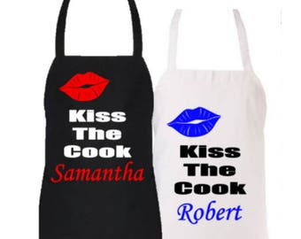 Personalized/Customized/Novelty Kiss The Cook Apron
