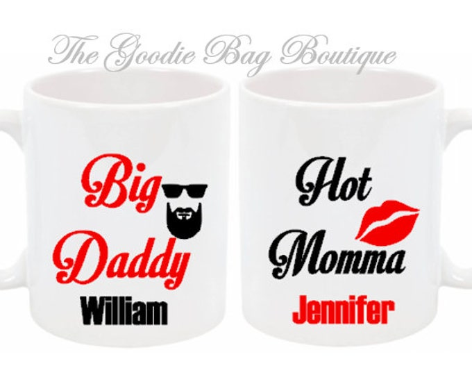 Big Daddy Hot Momma Personalized Novelty Mugs