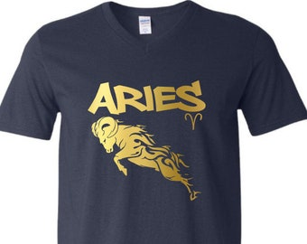 Aries Zodiac Shirt-Men's Capricorn Birthday Shirt-Mens Zodiac Shirt-Mens Birthday Gift-December Birthday Gift-January Birthday Gift Idea