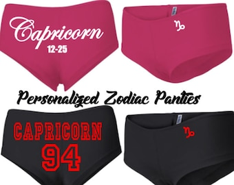 Capricorn Women's Shorties/Panties-Personalized!