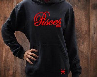 Pisces Birthday Women's Hoodie Personalized