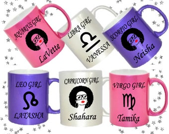 Zodiac Girl Personalized Mugs