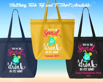 Personalized Tote Bag- Great for Bacholerette Party/ Girl's Weekend/Vacation