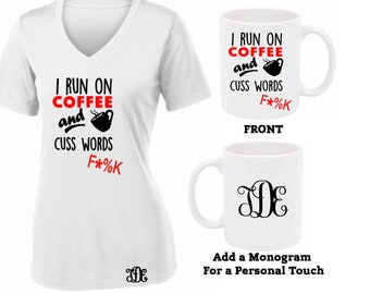 Women's Funny Saying Shirt- Monogrammed Shirt-Personalized Shirt-Personalized Coffee Mug-Custom Mug-Mother's Day Gift Idea-Gift for Busy Mom