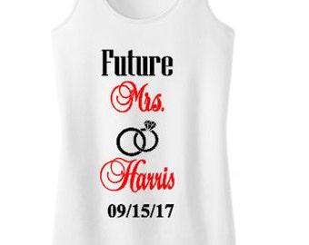 Future Mrs. Bridal Tank Top-Wedding Party Shirt