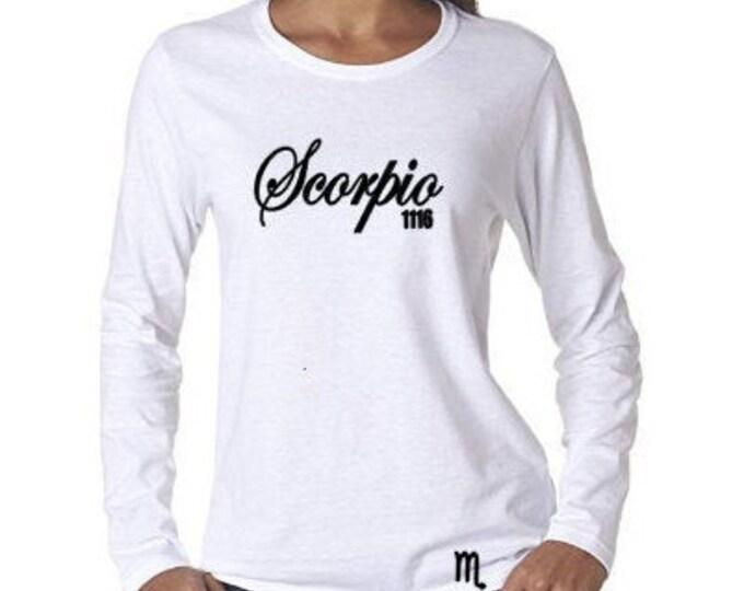 Scorpio Birthday Shirt- November Birthday Gift-October Birthday Gift Idea-Zodiac Gift Idea-Customized Birthday Shirt-Horoscope Gifts