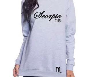 Scorpio Personalized Sweatshirt-Women's Birthday Shirt-November Birthday Gift Idea-October Birthday-Customized Birthday Shirt-Zodiac Gift