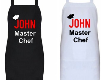 Personalized Apron, Master Chef Apron, Customized Apron, Apron for Him, New Cook Apron, New Chef Apron,