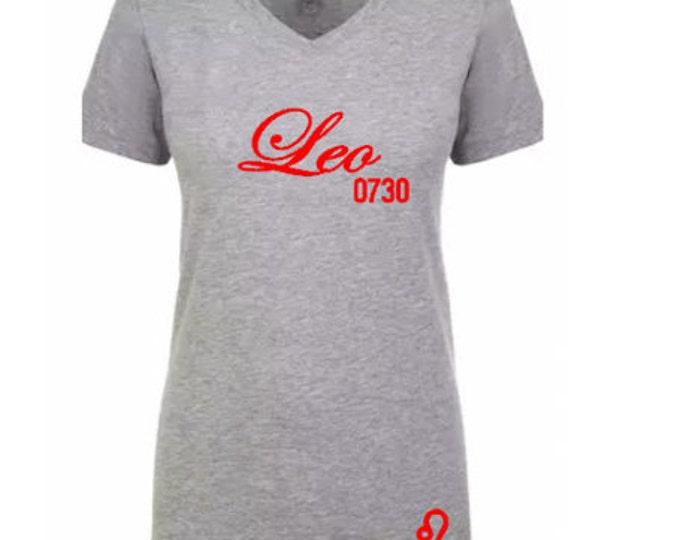 Women's Birthday Leo Personalized T-Shirt/Tee