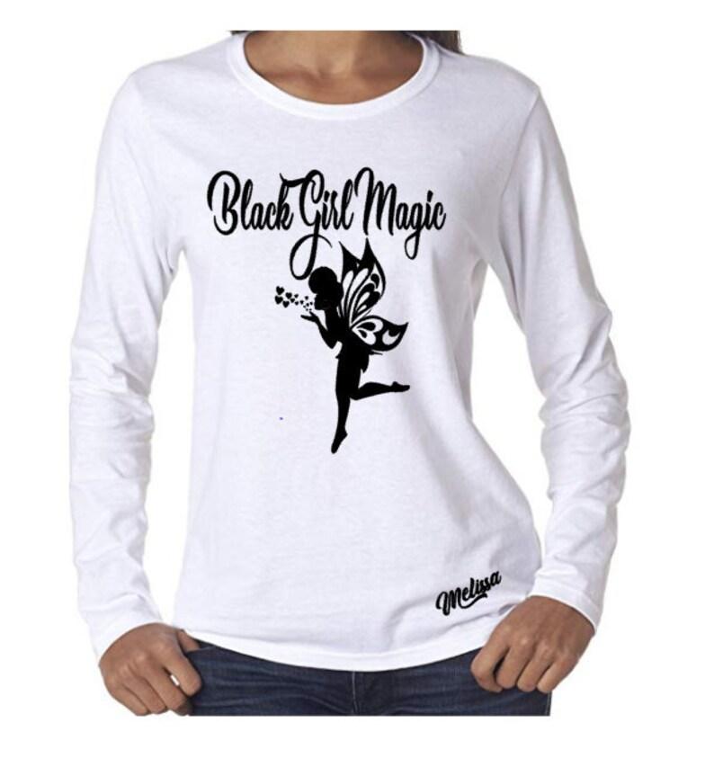 Black Girl Magic Long Sleeve Shirt-Black History Month image 0